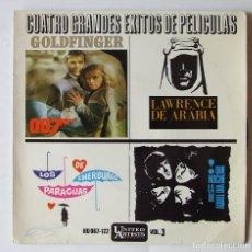 Discos de vinilo: SINGLE EP BEATLES CUATRO GRANDES EXITOS DE PELICULAS A HARD DAY'S NIGHT AL CAIOLA. Lote 165159006