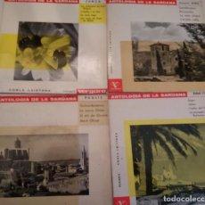 Discos de vinilo: ANTOLOGIA DE LA SARDANA - COBLA LAIETANA - 4 DISCOS SINGLES RPM. Lote 165164110