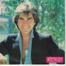 Discos de vinilo: JOSE LUIS RODRIGUEZ - PAVO REAL / ADIVINA DE DONDE SOY (SINGLE PROMOCION STARLUX 1981). Lote 165175110