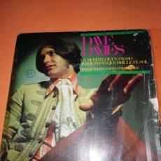 Discos de vinilo: DAVE DAVIES. LA MUERTE DE UN PAYASO. AMAME HASTA QUE BRILLE EL SOL. HISPAVOX 1967. Lote 165216962