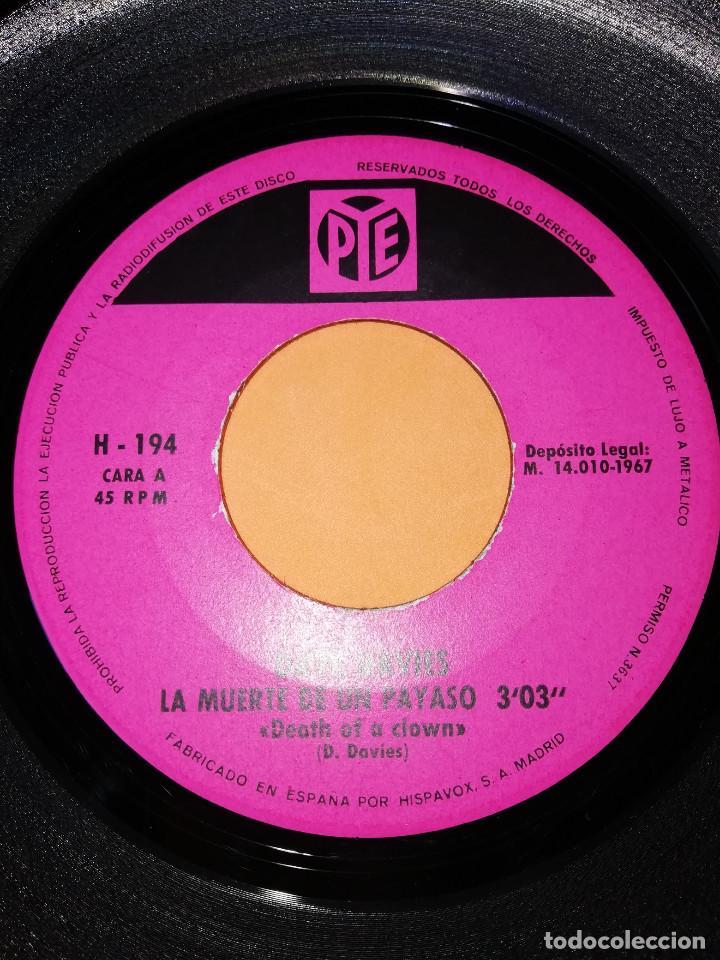 Discos de vinilo: DAVE DAVIES. LA MUERTE DE UN PAYASO. AMAME HASTA QUE BRILLE EL SOL. HISPAVOX 1967 - Foto 4 - 165216962