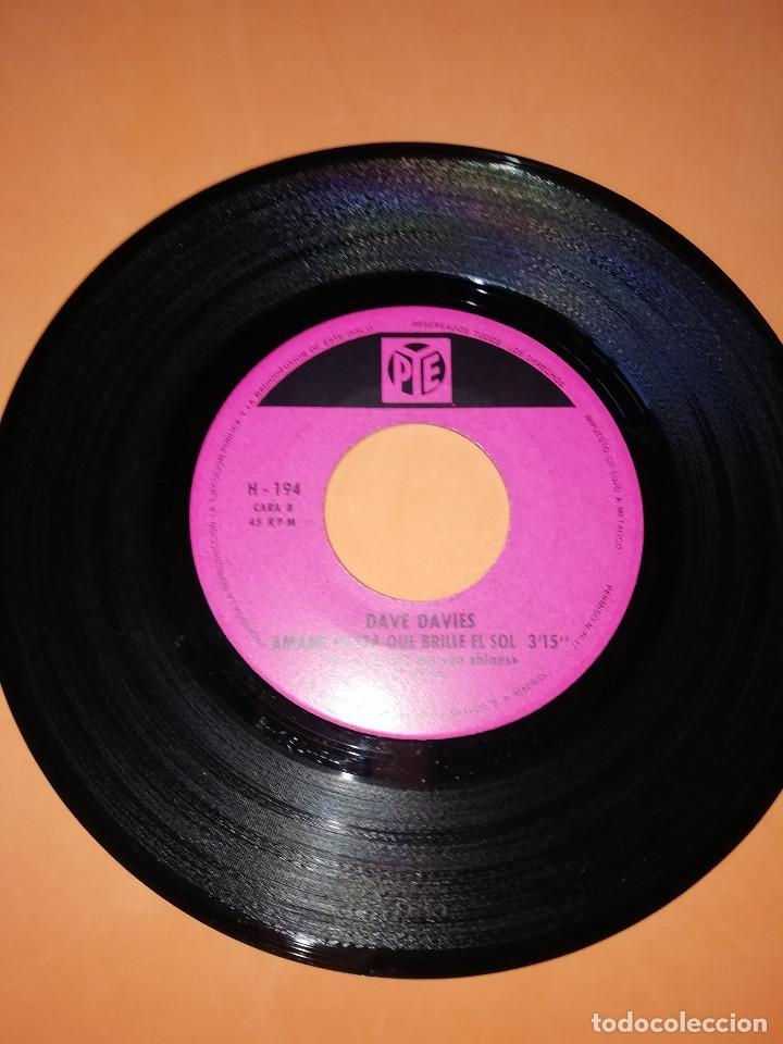 Discos de vinilo: DAVE DAVIES. LA MUERTE DE UN PAYASO. AMAME HASTA QUE BRILLE EL SOL. HISPAVOX 1967 - Foto 5 - 165216962