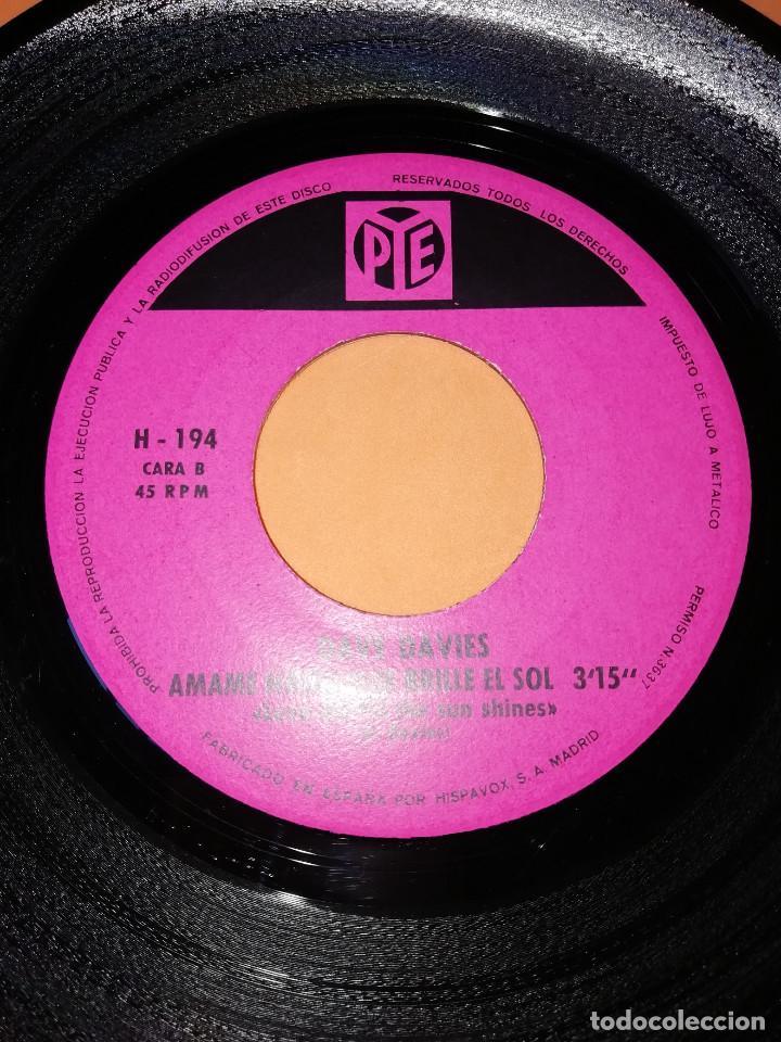 Discos de vinilo: DAVE DAVIES. LA MUERTE DE UN PAYASO. AMAME HASTA QUE BRILLE EL SOL. HISPAVOX 1967 - Foto 6 - 165216962