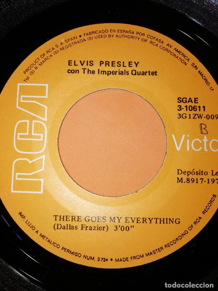 Discos de vinilo: ELVIS PRESLEY / I REALLY DON'T WANT TO KNOW / THERE GOES MY EVERYTHING (SINGLE 1971) - Foto 6 - 165218294