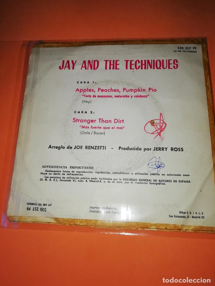 Discos de vinilo: JAY AND THE TECHNIQUES - APPLES, PEACHES, PUMPKIN PIE / STRONGER THAN DIRT . 1967. - Foto 2 - 165220706