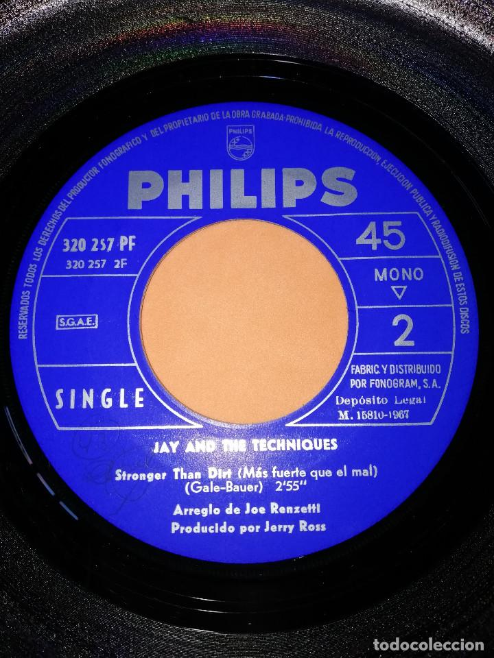 Discos de vinilo: JAY AND THE TECHNIQUES - APPLES, PEACHES, PUMPKIN PIE / STRONGER THAN DIRT . 1967. - Foto 6 - 165220706
