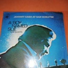 Discos de vinilo: JOHNNY CASH AT SAN QUINTIN LP 1970 CBS EDICION ESPAÑOLA SPAIN. Lote 165221214