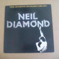 Discos de vinilo: NEIL DIAMOND – 20 GOLDEN GREATS MCA RECORDS – MCTV 2 LP, COMPILATION UK. Lote 165221462