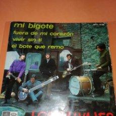 Discos de vinilo: LOS SALVAJES. MI BIGOTE. FUERA DE MI CORAZON. VIVIR ..REGAL 1967. 4 CANCIONES. Lote 165223946