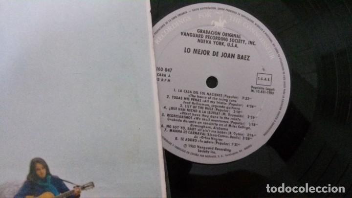 Discos de vinilo: LP-LO MEJOR DE JOAN BAEZ-HISPAVOX - Foto 3 - 165233138