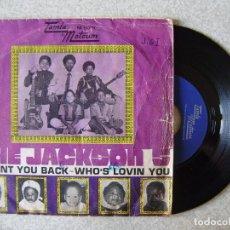 Discos de vinilo: THE JACKSON 5.I WANT YOU BACK-WHO´S LOVIN YOU.....RARO. Lote 165236482