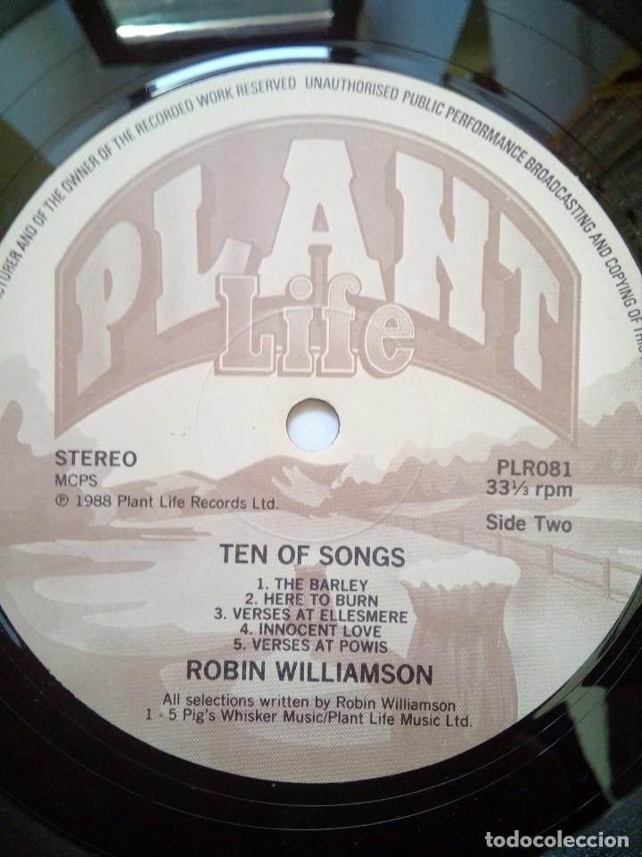 Discos de vinilo: Robin Williamson, Ten of songs, Plant Life Records, 1988. - Foto 4 - 165236542