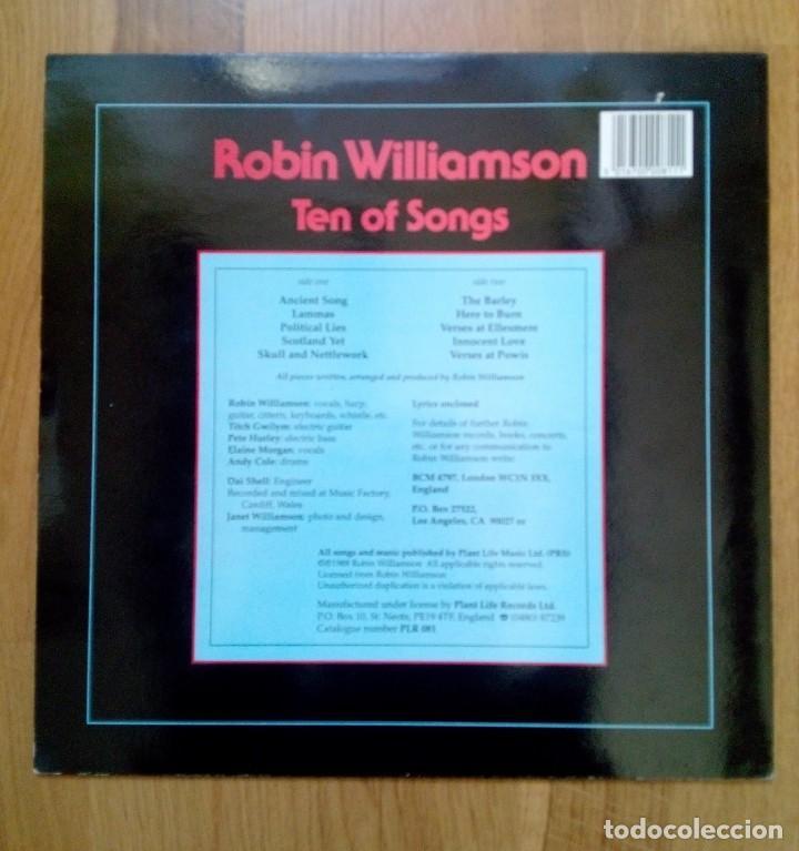 Discos de vinilo: Robin Williamson, Ten of songs, Plant Life Records, 1988. - Foto 5 - 165236542