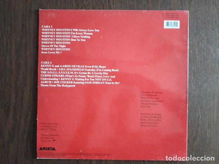 Discos de vinilo: disco vinilo LP, Whitney Houston, El guardaespaldas. Arista año 1992 - Foto 2 - 165258350