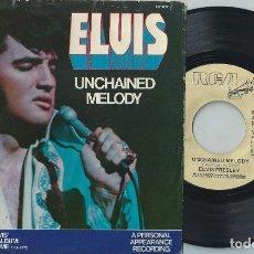 Discos de vinilo: ELVIS PRESLEY 7 SINGLE UNCHAINED MELODY USA RCA PB 11212 1978 RARE PROMO COPY (COMPRA MINIMA 15 EUR). Lote 165274702