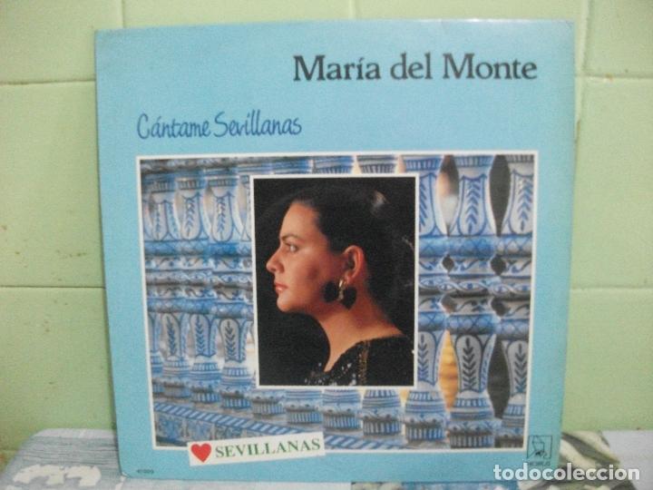 MARIA DEL MONTE CANTAME SEVILLANAS, SINTI ,CANTAME,YA LO SABES...LP HORUS DE 1988 PEPETO (Música - Discos - LP Vinilo - Flamenco, Canción española y Cuplé)