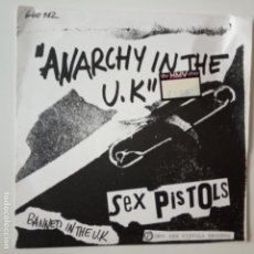 Dischi in vinile: SEX PISTOLS- ANARCHY IN THE UK - FRENCH FIRST PRESS 1977.. Lote 165310502