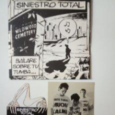 Discos de vinilo: SINIESTRO TOTAL BAILARE SOBRE TU TUMBA- SINGLE PROMO 1985+ TROQUELADO+FOTO PROMOCIONAL.. Lote 165312126