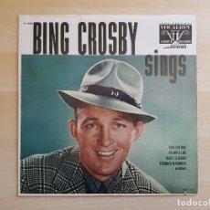Discos de vinilo: BING CROSBY - SINGS - LP VINILO - DECCA - VOCALION - 1973. Lote 165326246