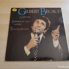 Discos de vinilo: GILBERT BÉCAUD - LP VINILO - EMI - 1980. Lote 165327510