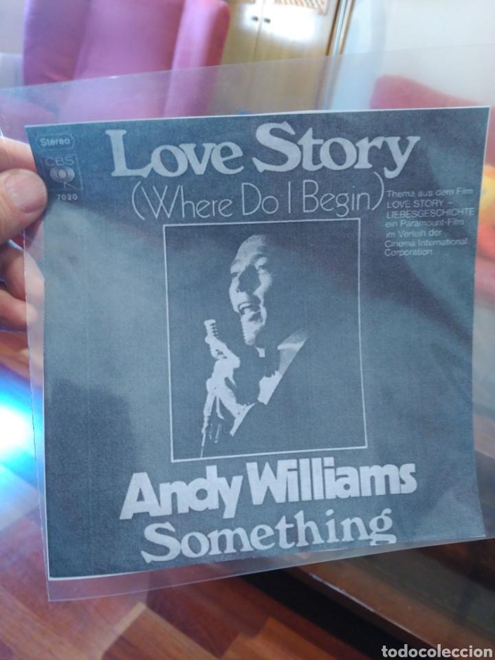 ANDY WILLIAMS LOVE STORY / SOMETHING CBS 7020 SIN CARÁTULA ED. ESPAÑOLA 1971 (Música - Discos - Singles Vinilo - Bandas Sonoras y Actores)