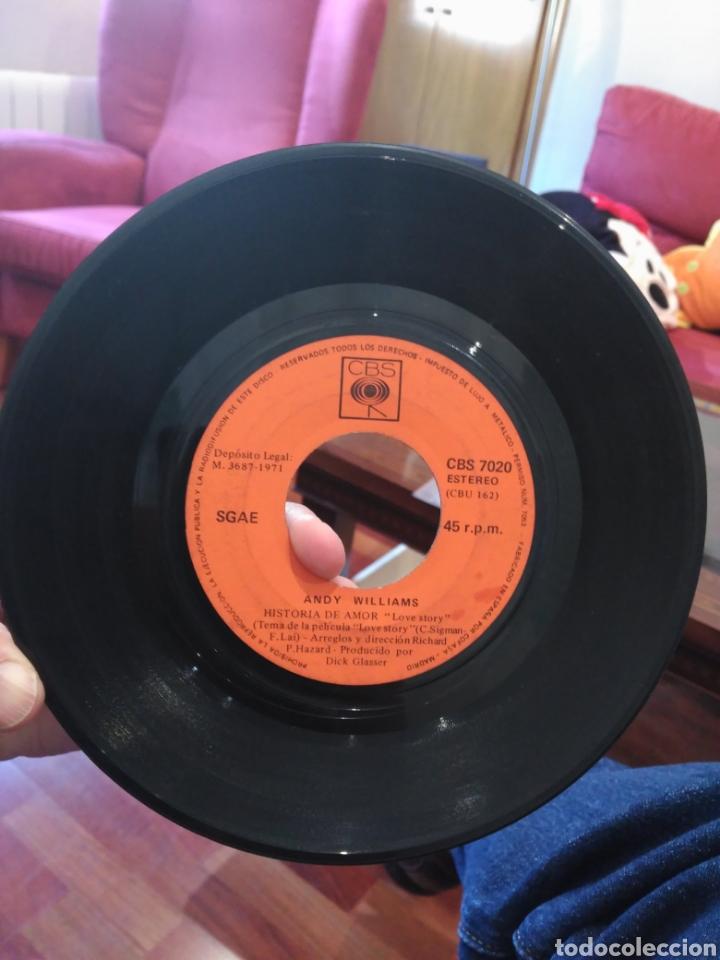Discos de vinilo: Andy Williams Love Story / Something CBS 7020 SIN CARÁTULA ED. ESPAÑOLA 1971 - Foto 2 - 165333849