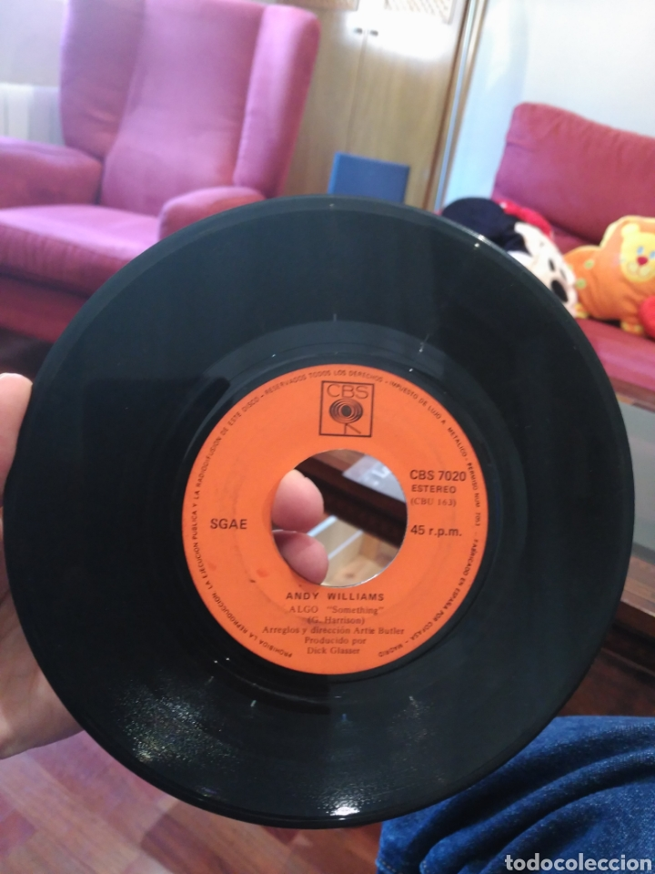Discos de vinilo: Andy Williams Love Story / Something CBS 7020 SIN CARÁTULA ED. ESPAÑOLA 1971 - Foto 3 - 165333849