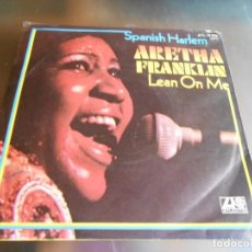 Discos de vinilo: ARETHA FRANKLIN, SG, SPANISH HARLEM + 1, AÑO 1971 MADE IN GERMANY. Lote 165355366