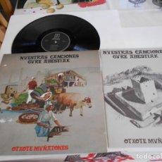 Discos de vinilo: NUESTRAS CANCIONES-LP GURE ABESTIAK-CONTIENE LIBRETO CON PARTITURAS. Lote 165358066