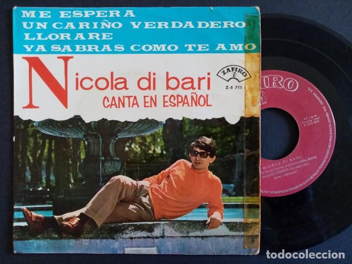 NICOLA DI BARI - ME ESPERA + UN CARIÑO VERDADERO + LLORARE + YA SABRAS CUANDO TE AMO - EP 1966 - ZAF (Música - Discos de Vinilo - EPs - Canción Francesa e Italiana)