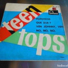 Discos de vinil: TEEN TOPS, EP, POPOTITOS + 3, AÑO 1962. Lote 165359110