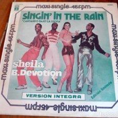 Discos de vinilo: MAXI SINGLE - SHEILA B. DEVOTION - SINGIN'IN THE RAIN. Lote 165360282