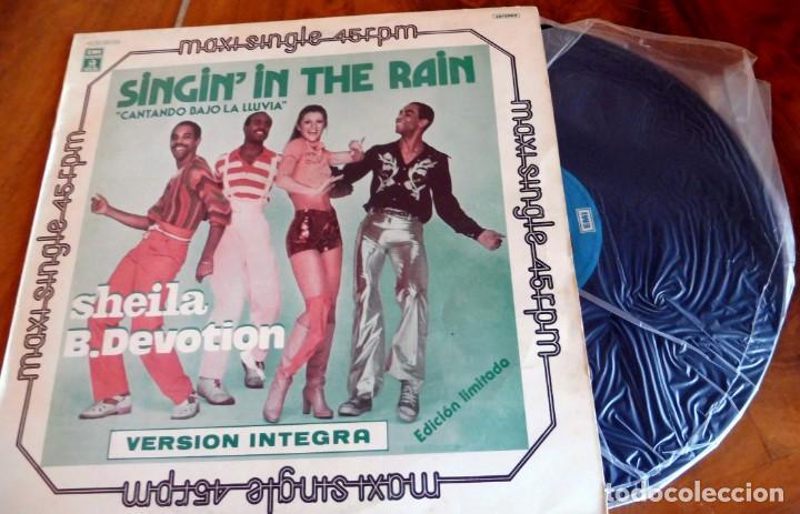 Discos de vinilo: MAXI SINGLE - SHEILA B. DEVOTION - SINGININ THE RAIN - Foto 2 - 165360282