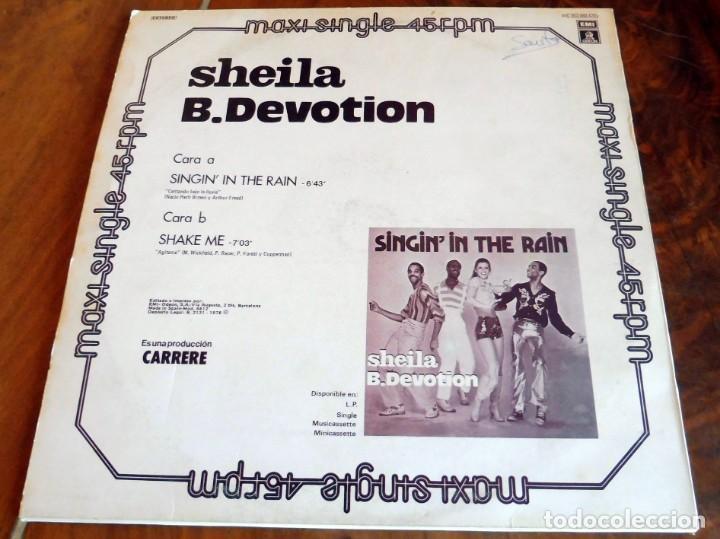 Discos de vinilo: MAXI SINGLE - SHEILA B. DEVOTION - SINGININ THE RAIN - Foto 3 - 165360282