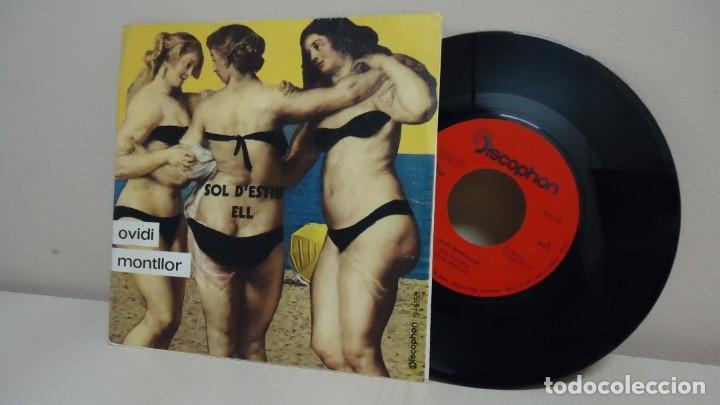 OVIDI MONTLLOR -SOL D,ESTIU ELL-PI DE LA SERRA- POCHOLO-JORDI SOLER -BCN-AÑO 1971-DISCOPHON (Música - Discos - Singles Vinilo - Cantautores Españoles)