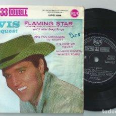 Discos de vinilo: ELVIS PRESLEY SINGLE FLAMING +3/33 SPAIN RCA LPC-128/ 1961 FIRST PRESS -ROCKABILLY (COMPRA MINIMA 15. Lote 165366370