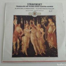 Discos de vinilo: LP STRAVINSKY/TRABAJOS DE PIANO. Lote 165381594