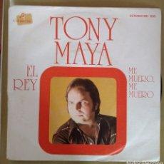 Discos de vinilo: TONY MAYA - EL REY. PROMOCIONAL. Lote 165402201