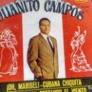 Discos de vinilo: E P (VINILO) DE JUANITO CAMPOS AÑOS 60. Lote 165430086