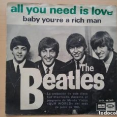 Discos de vinilo: BEATLES - ALL YOU NEED IS LOVE (SG) 1967. Lote 165435682