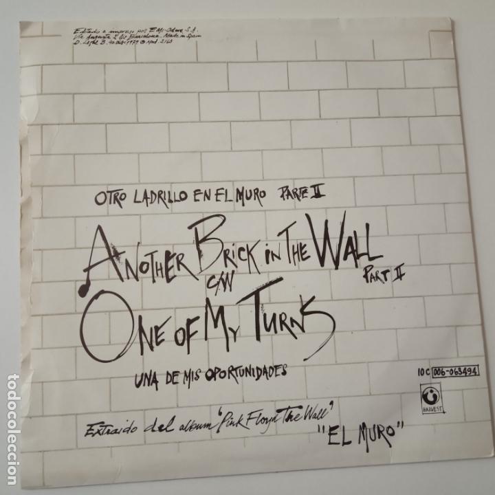 Discos de vinilo: PINK FLOYD- ANOTHER BRICK IN THE WALL PART II- SPAIN SINGLE 1979. - Foto 2 - 165435774