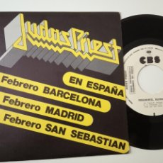 Discos de vinilo: JUDAS PRIEST EN ESPAÑA - FREEWHEEL BURNING- SPAIN PROMO 1984- WHITE LABEL- COMO NUEVO.. Lote 165449706