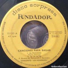 Discos de vinilo: LOS BOHEMIOS EP 1967 FUNDADOR. Lote 165461562