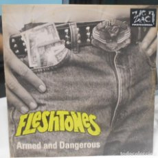 Discos de vinilo: THE FLESHTONES ARMED AND DANGEROUS MAXI 1991 UK. Lote 165487654