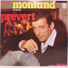 Discos de vinilo: YVES MONTAND ?– MONTAND CHANTE PRÉVERT SELLO: PHILIPS ?– 6332 226 FORMATO: VINYL, LP, REISSUE . Lote 165492814