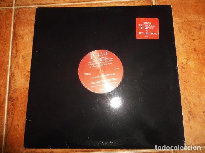 JULIO IGLESIAS EL CHOCLO REMIXES HEX HECTOR MAXI SINGLE VINILO PROMO USA AÑO 1997 CONTIENE 5 TEMAS (Música - Discos de Vinilo - Maxi Singles - Solistas Españoles de los 70 a la actualidad)