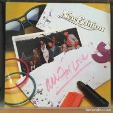 Discos de vinilo: NEW EDITION ALL FOR LOVE LP COMO NUEVO!!!. Lote 165521174