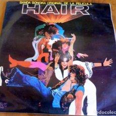 Discos de vinilo: LP - RDA - BANDA SONORA ORIGINAL DE LA PELÍCULA HAIR - 2 LP'S. Lote 165522698