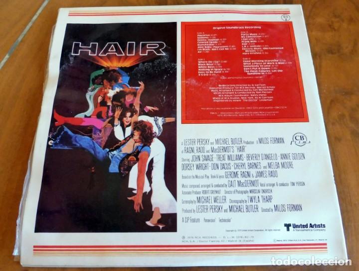 Discos de vinilo: LP - RDA - BANDA SONORA ORIGINAL DE LA PELÍCULA HAIR - 2 LPS - Foto 2 - 165522698