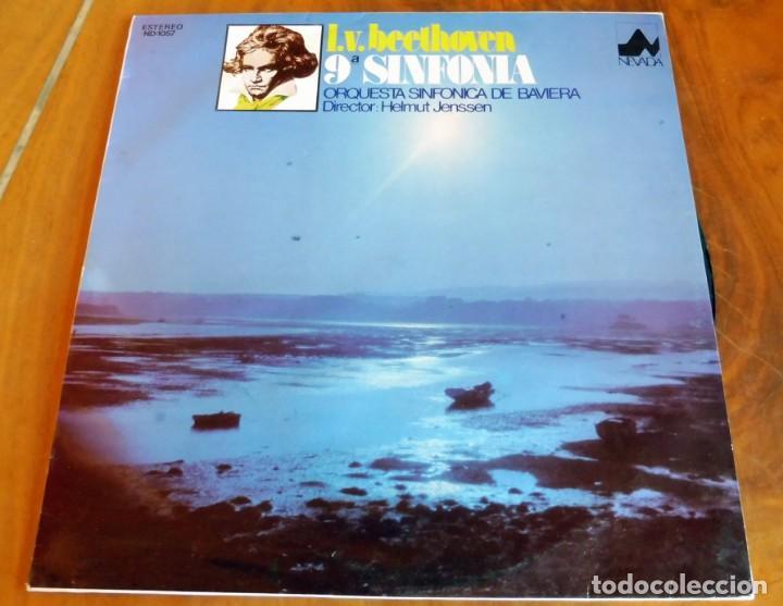 LP - NEVADA - BEETHOVEN -9ª SINFONÍA - ORQUESTA SINFÓNICA DE BAVIERA (Música - Discos - LP Vinilo - Clásica, Ópera, Zarzuela y Marchas)